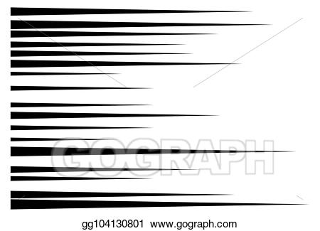action lines clipart horizontal
