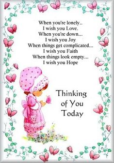 thinking of you clipart