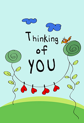 thinking of you clipart new