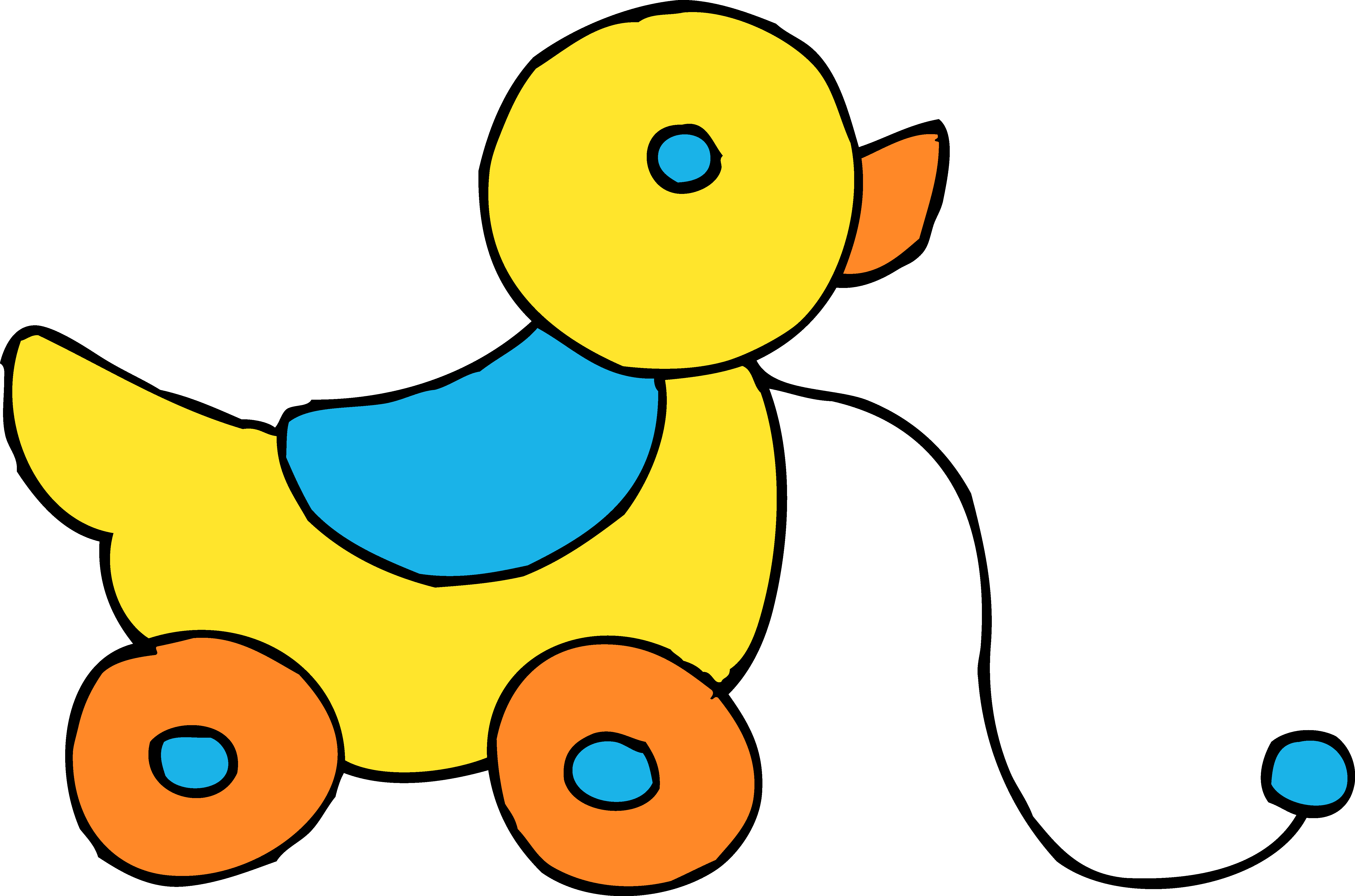 duck clipart black and white toy