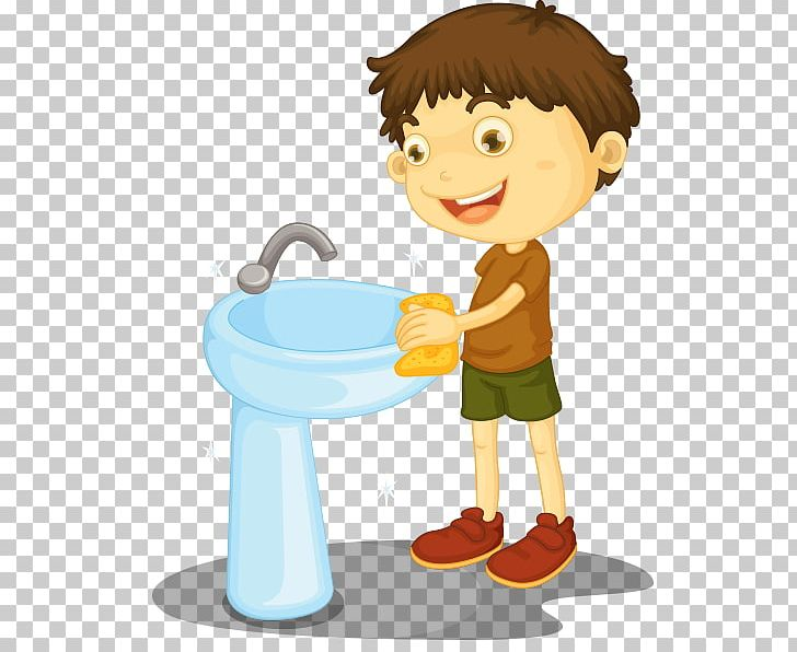 clipart toilet cleaning