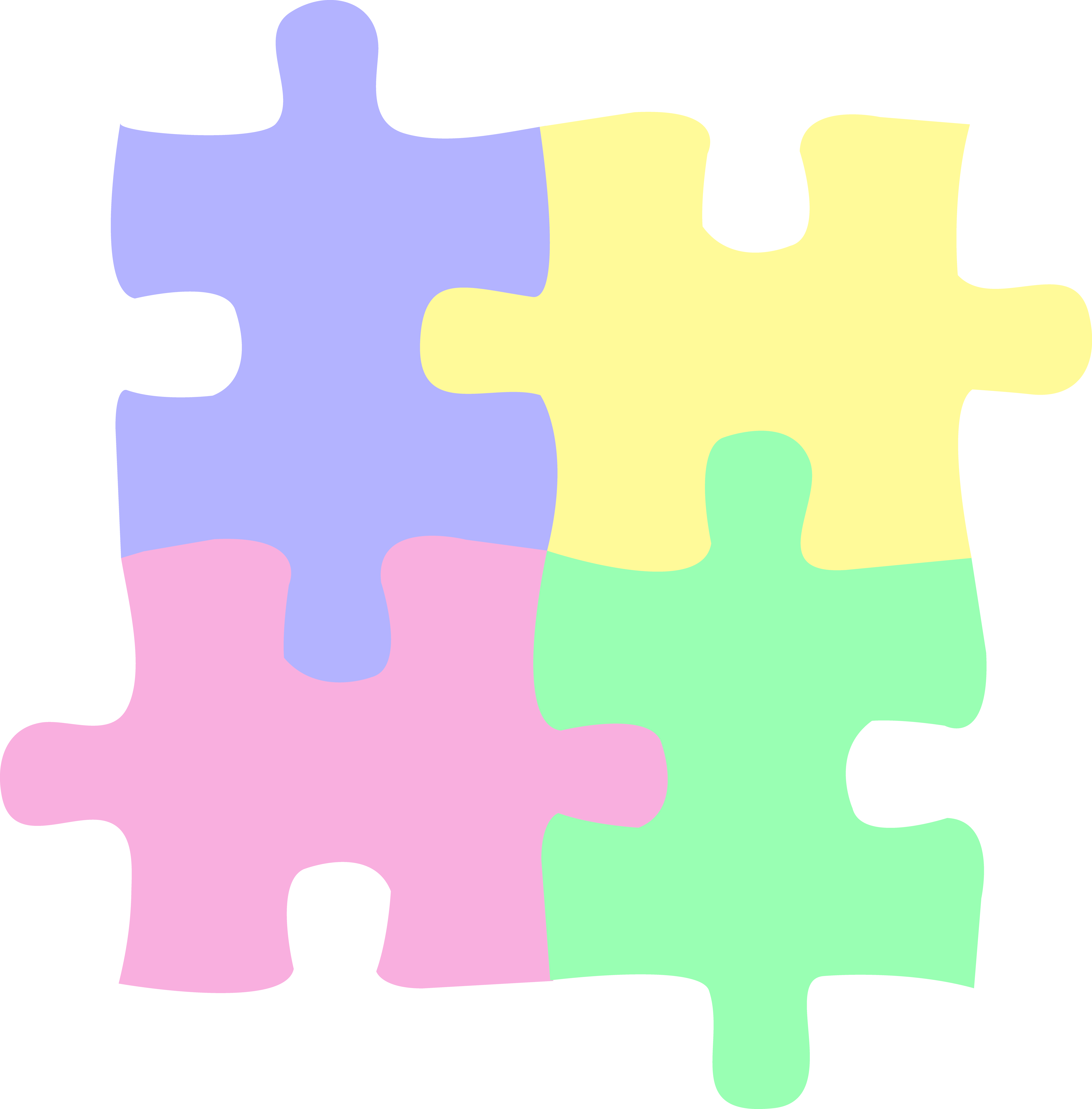 puzzles clipart colorful