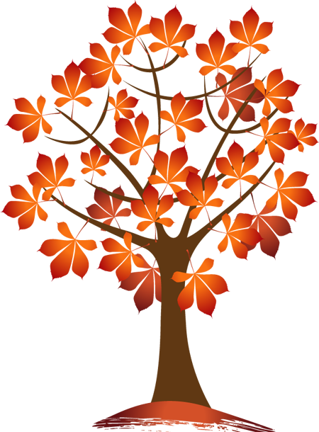 fall tree clipart leaves