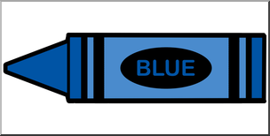 crayons clipart blue
