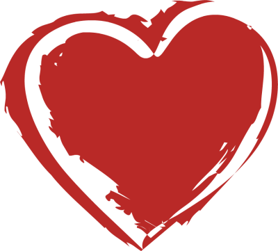 red heart clipart drawn