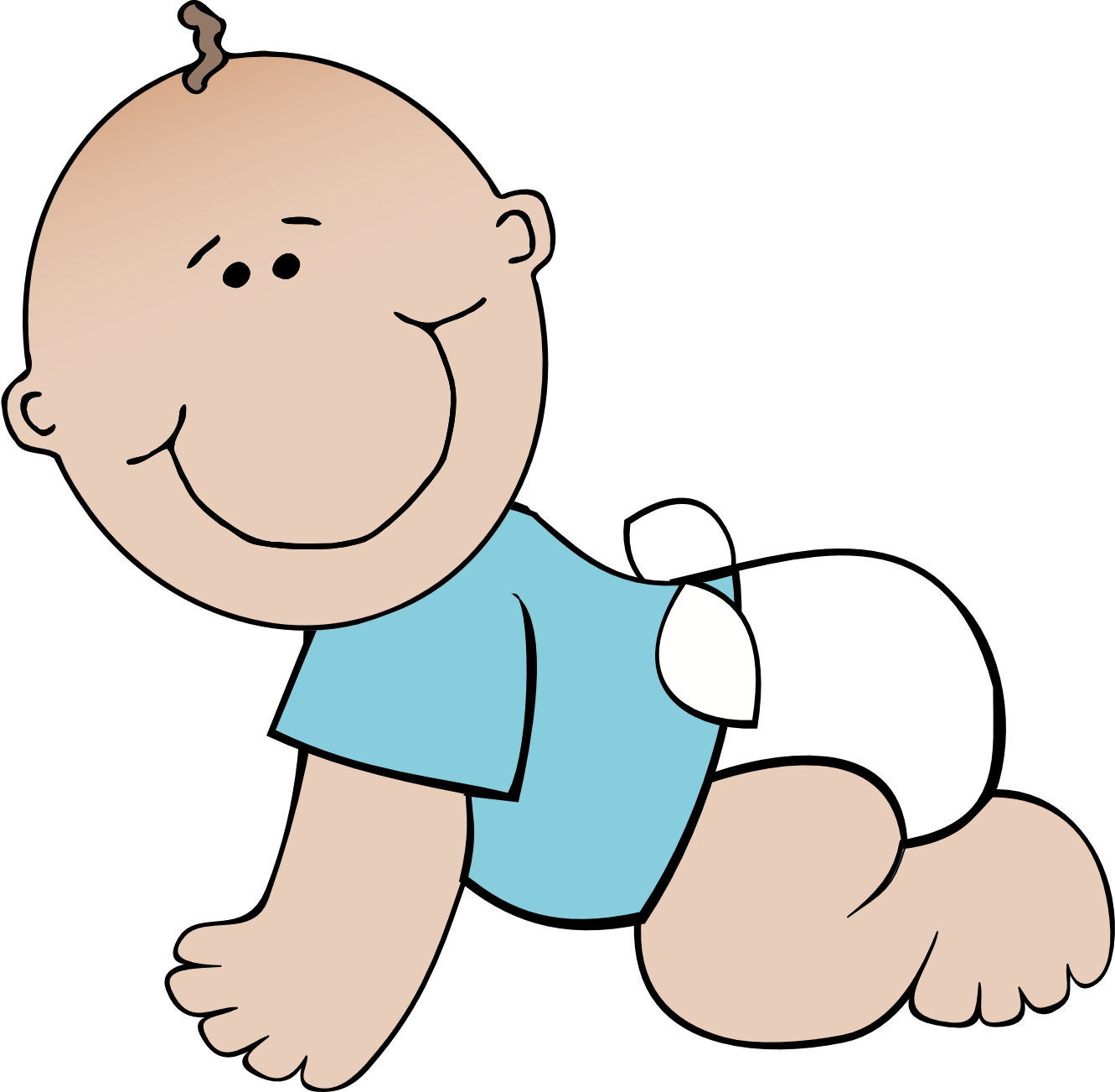 walking clipart baby