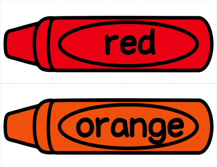 crayons clipart red