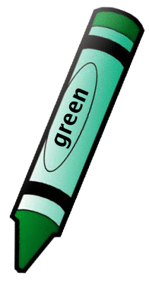 crayons clipart green
