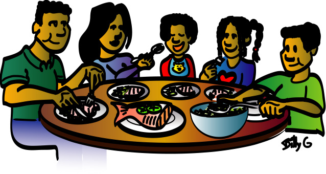 luncheon clipart evening meal