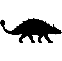 dinosaurs clipart silhouette