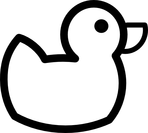 duck clipart black and white animal