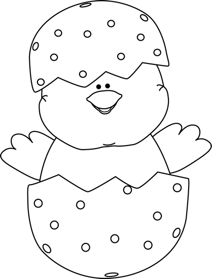 easter egg clipart black and white drawing