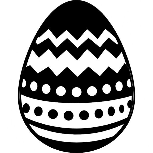 easter egg clipart black and white silhouette