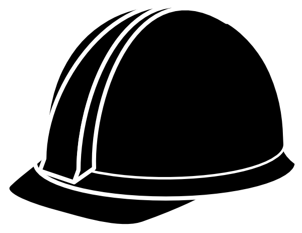 hard hat clipart silhouette