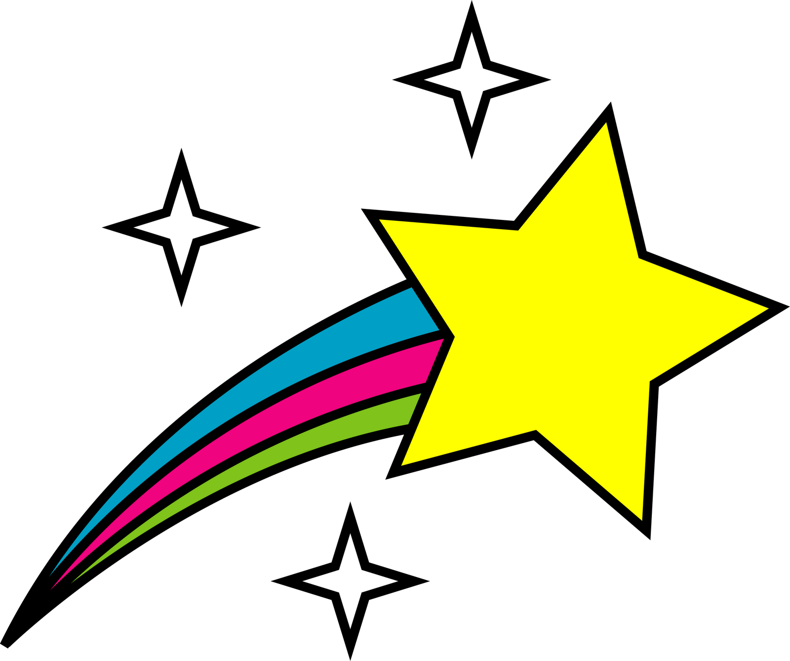 star icon clipart rising
