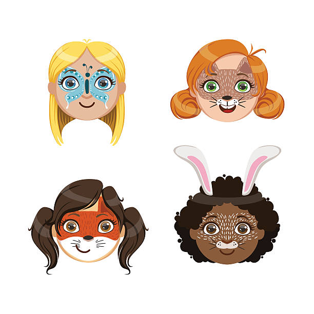 face painting clipart cheek