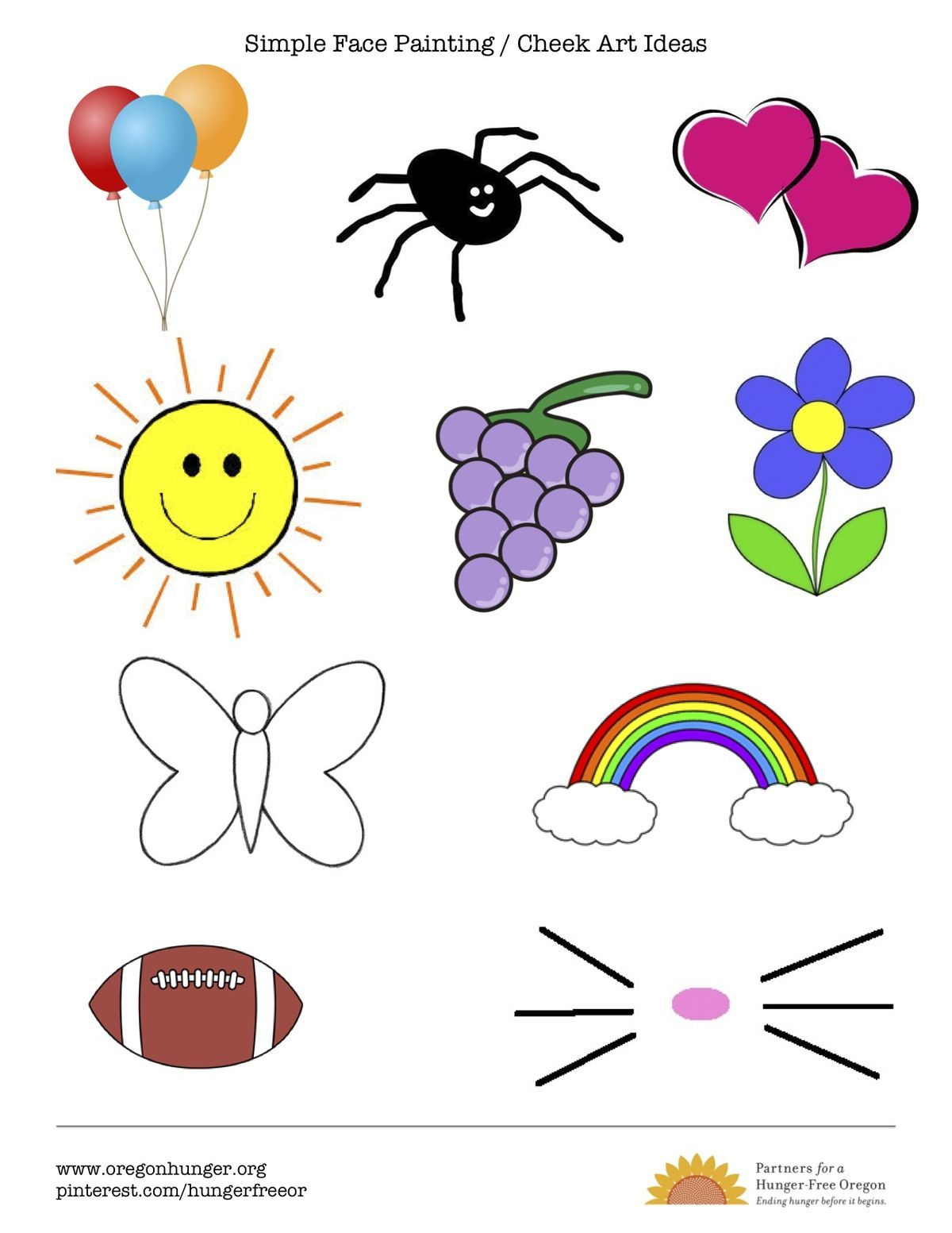 face painting clipart easy