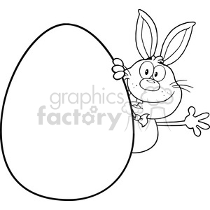 easter egg clipart black and white cartoon
