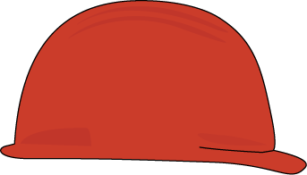 hard hat clipart red