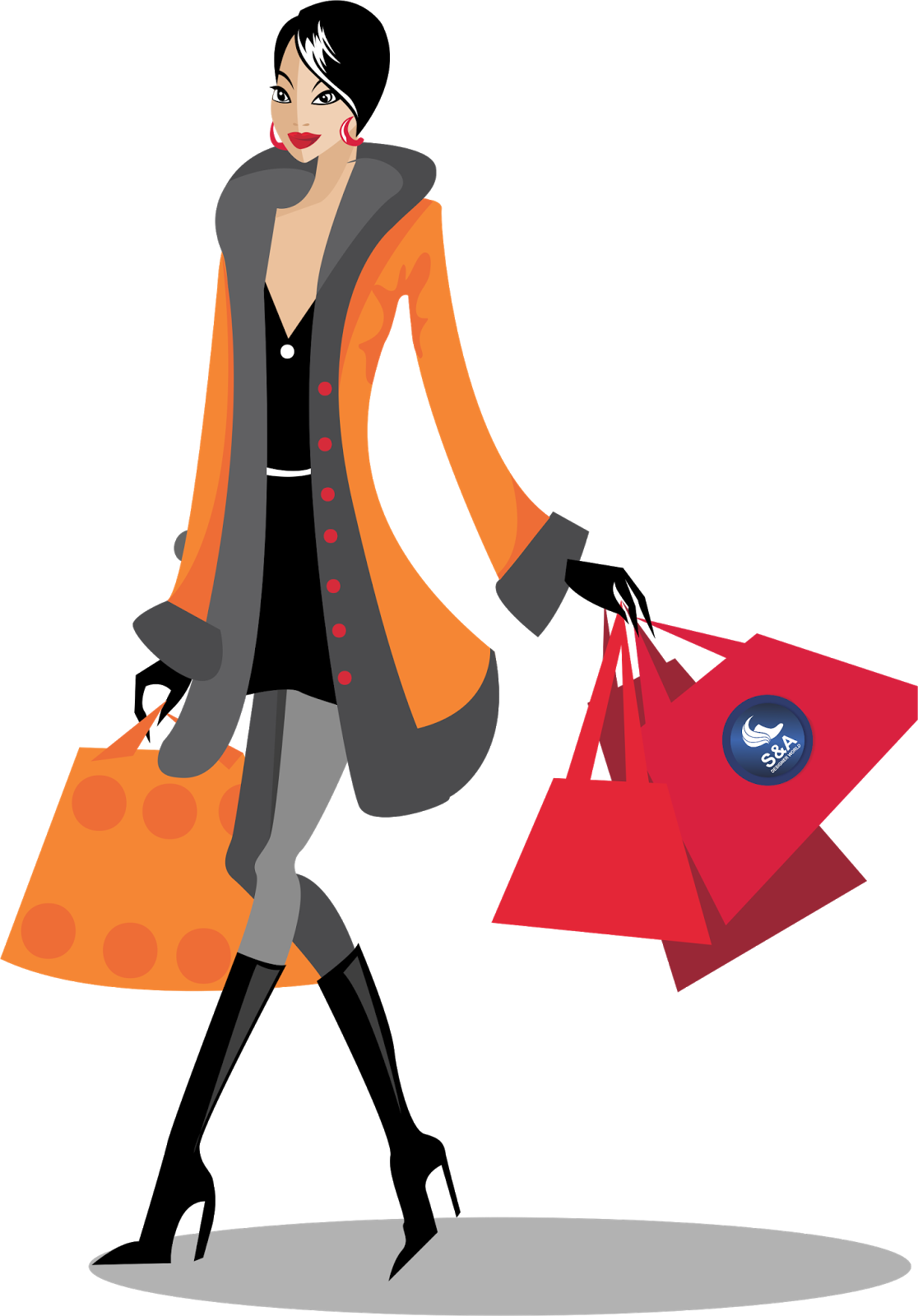 shopping clipart transparent background