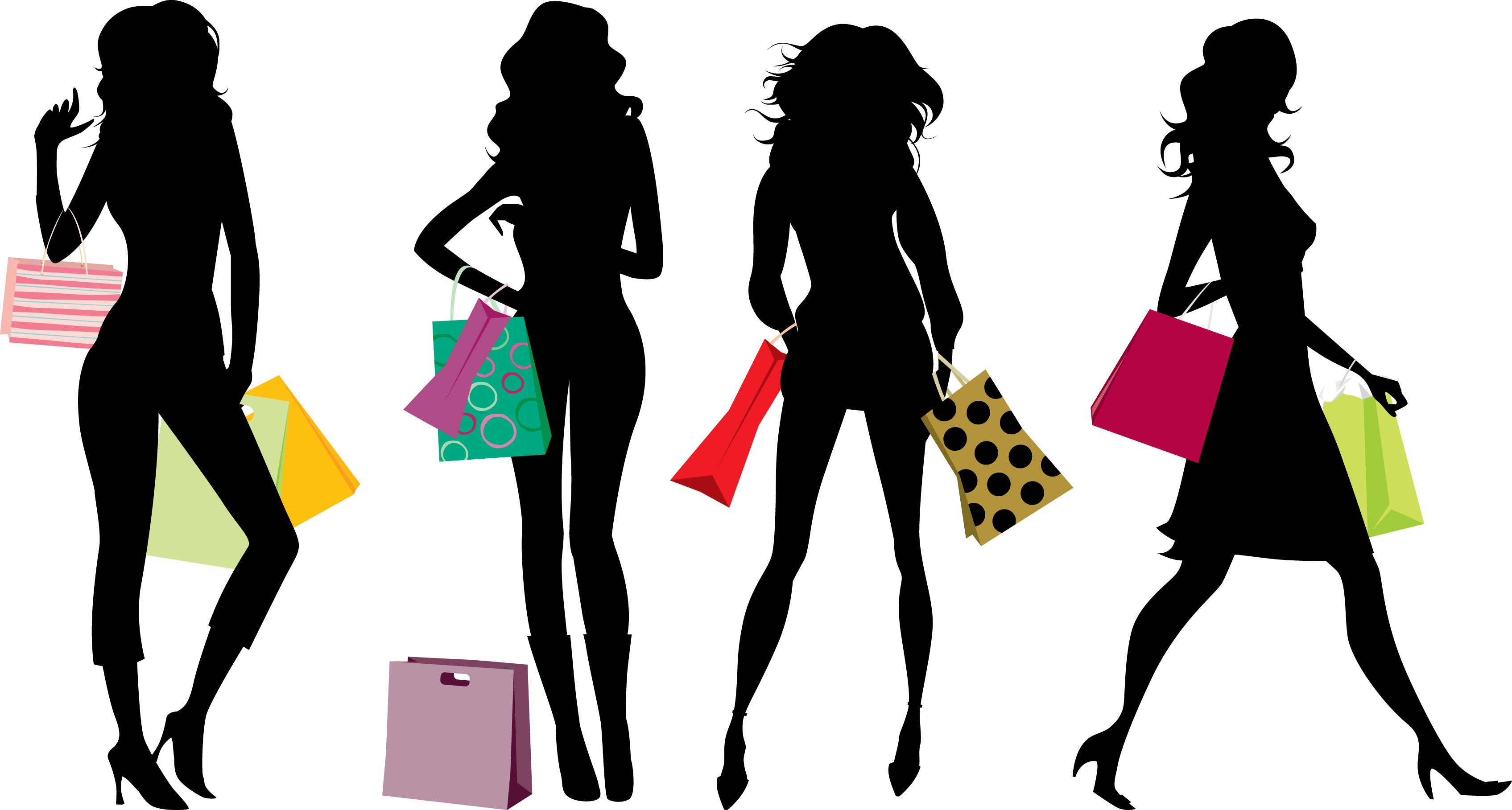 shopping clipart silhouette