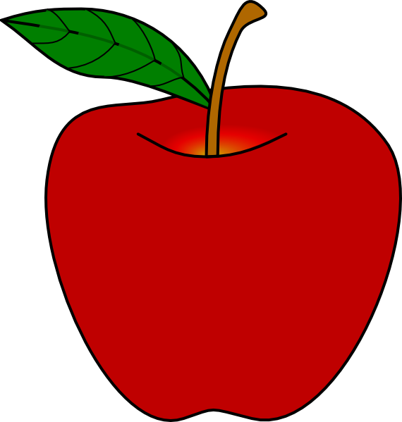 apple clipart red