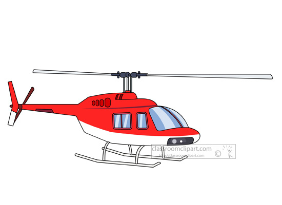 transportation clipart helicopter
