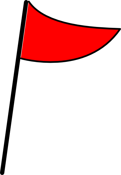 clipart flag red