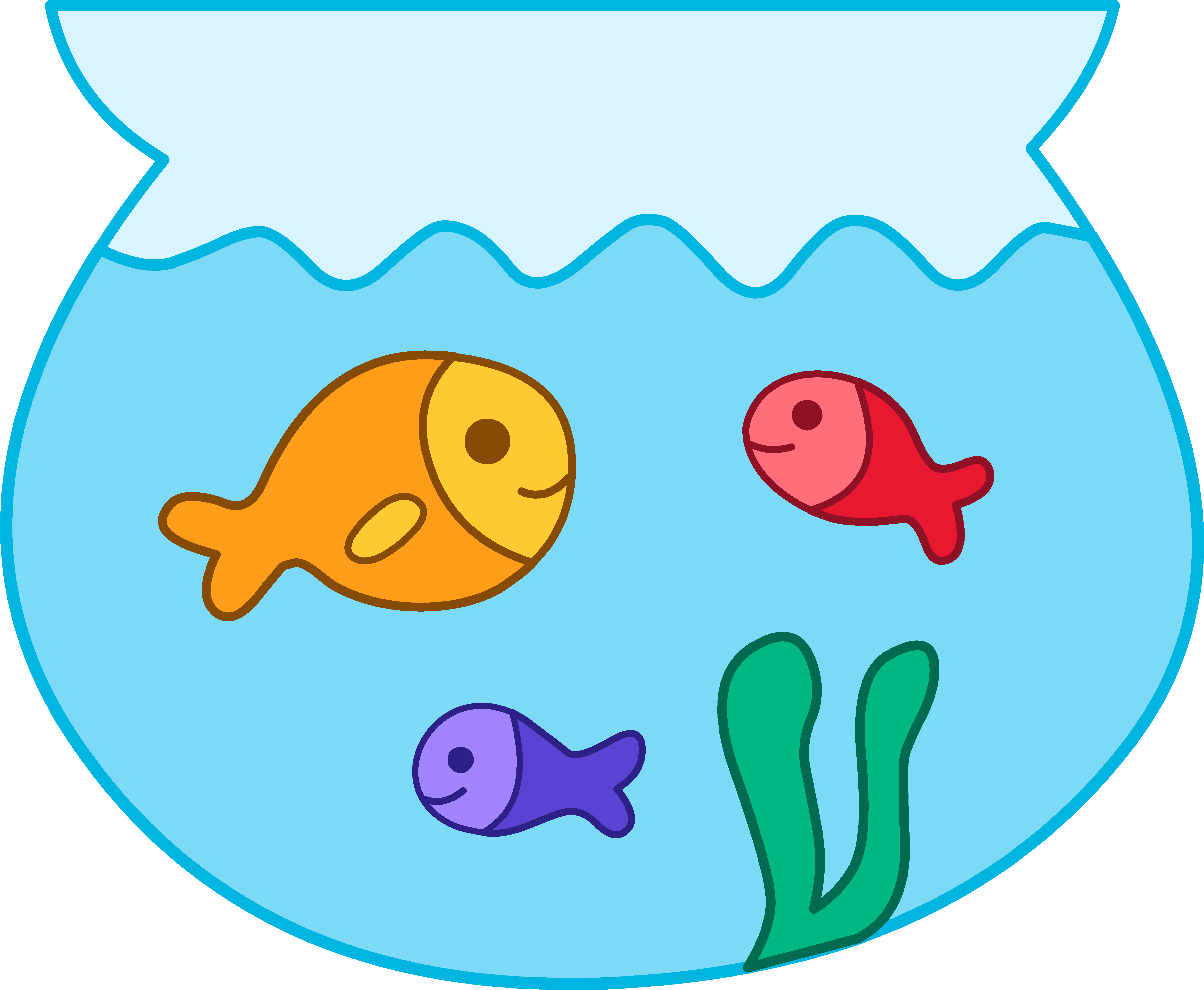 water clipart fish