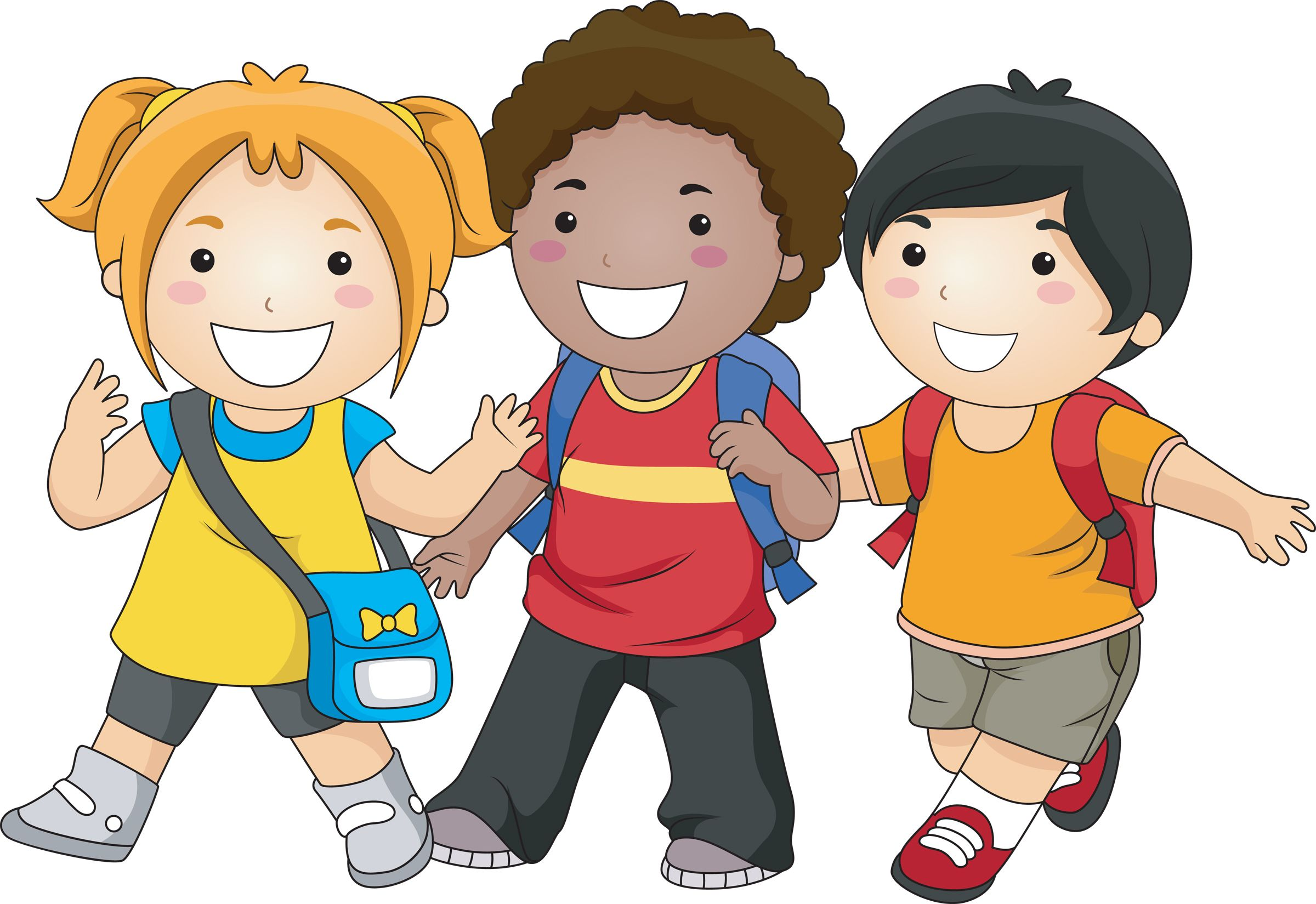 walking clipart student
