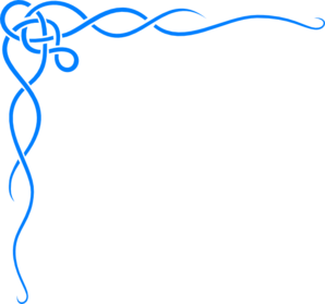 free borders clipart blue
