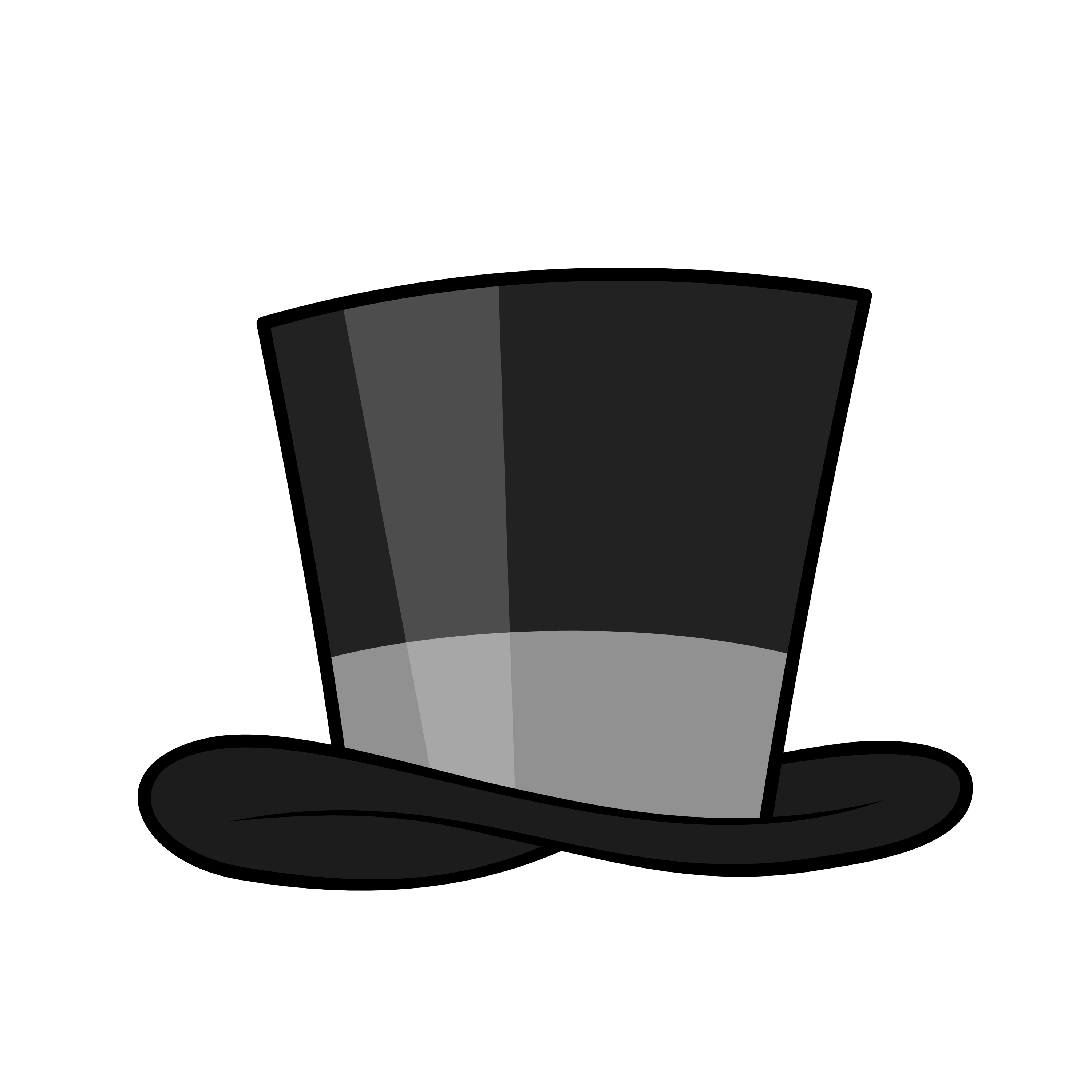 top hat clipart cute