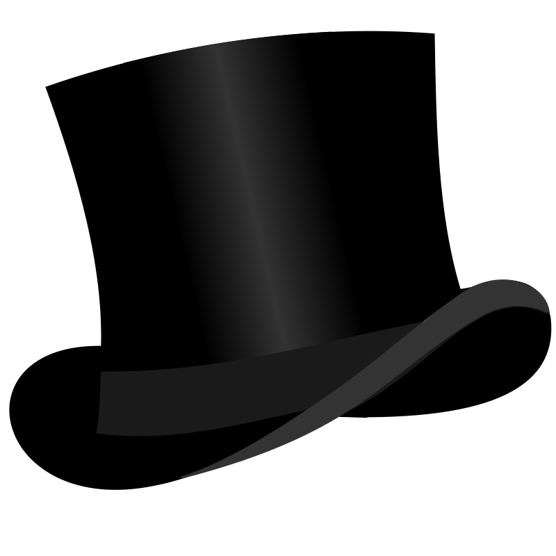 top hat clipart transparent background