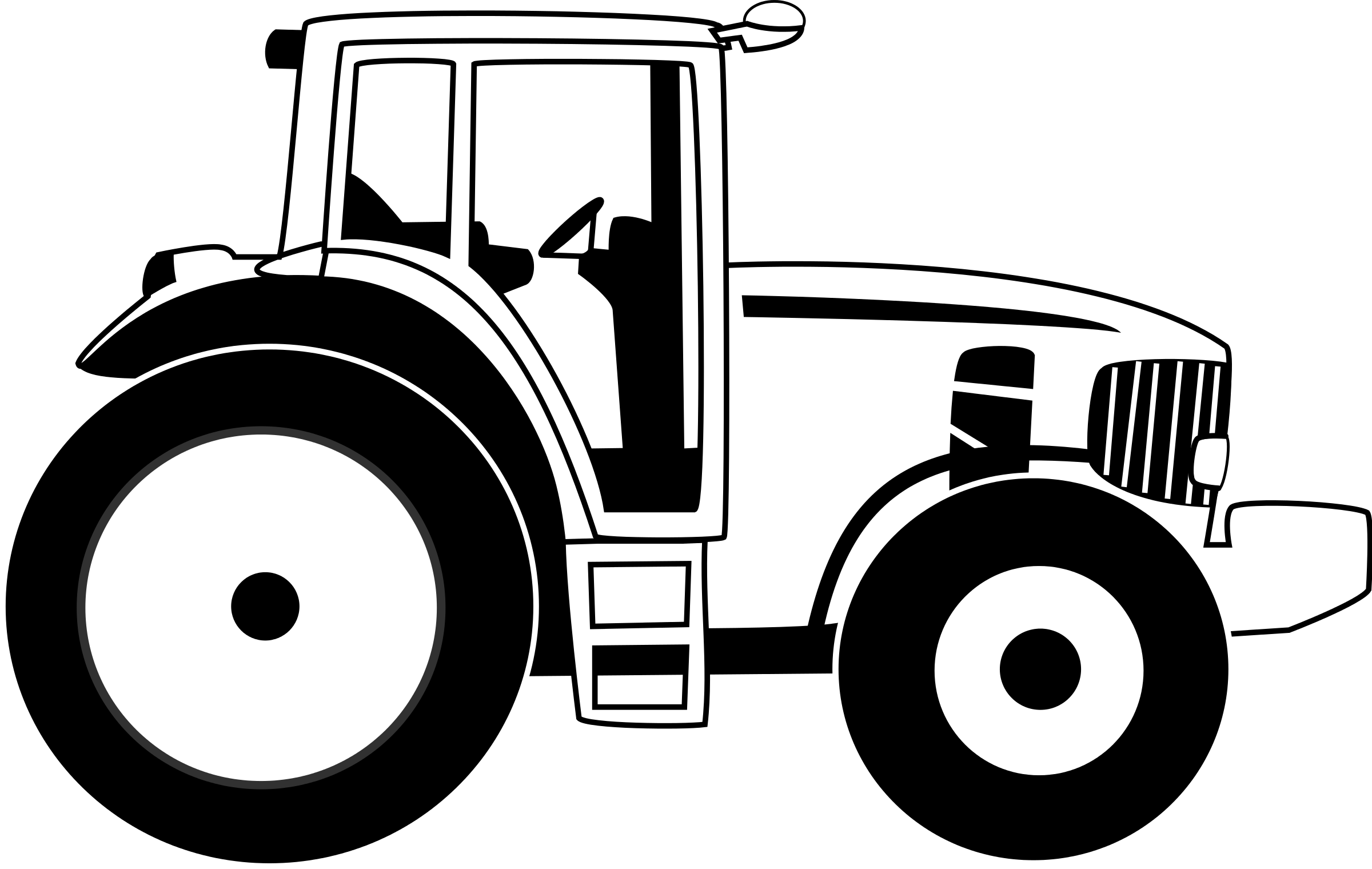 tractor clipart outline