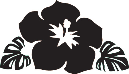 Hawaii clip art black and white.