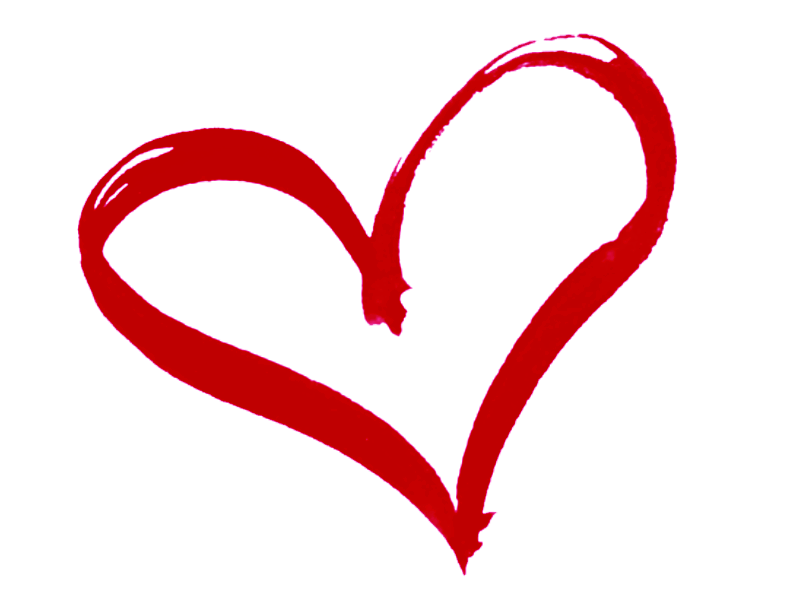 red heart clipart simple