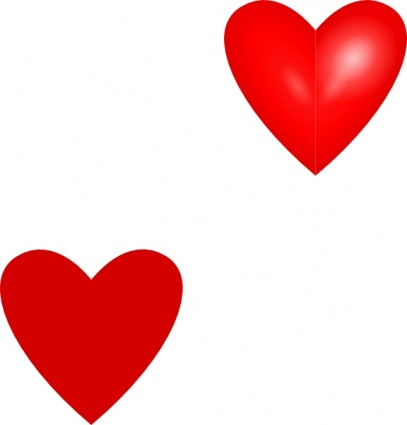red heart clipart vector