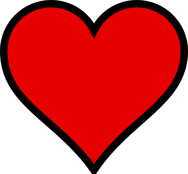 red heart clipart clear background