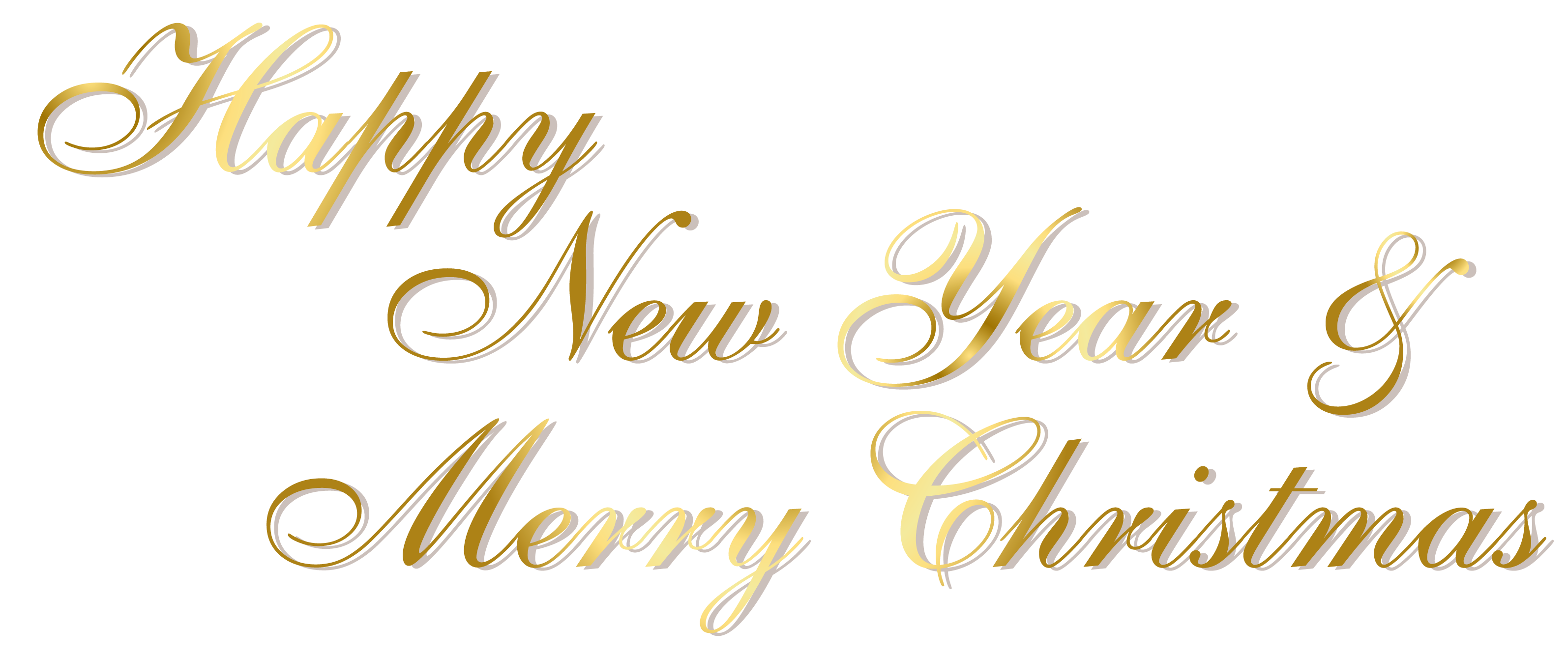 new year clipart gold