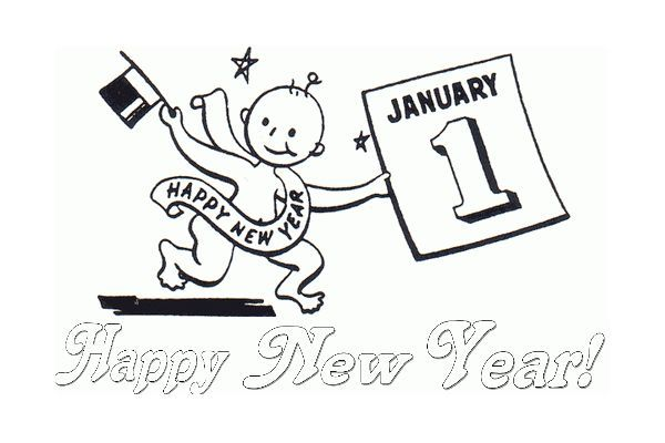 new year clipart baby