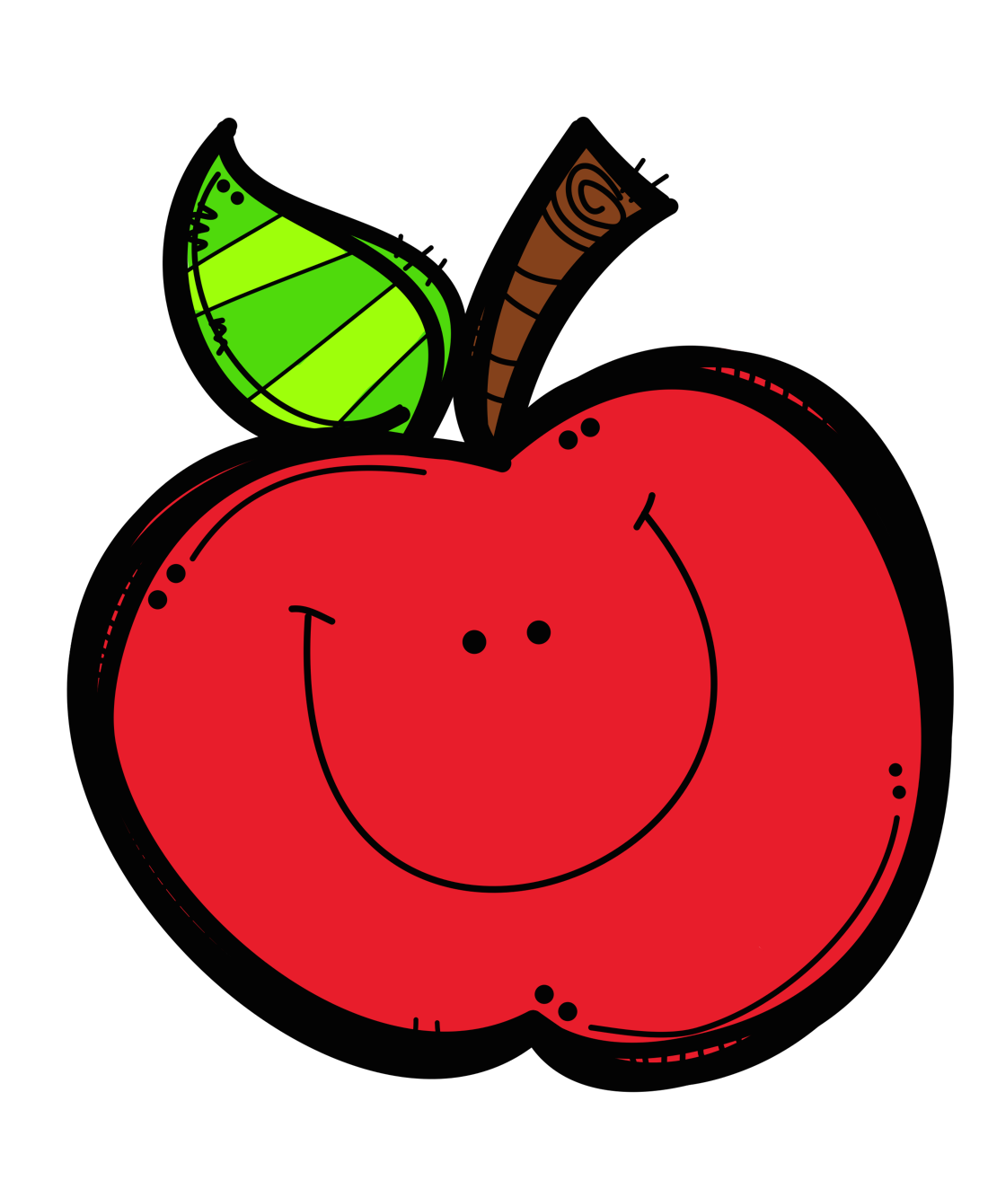 apple clipart smiley