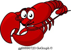 lobster clipart simple