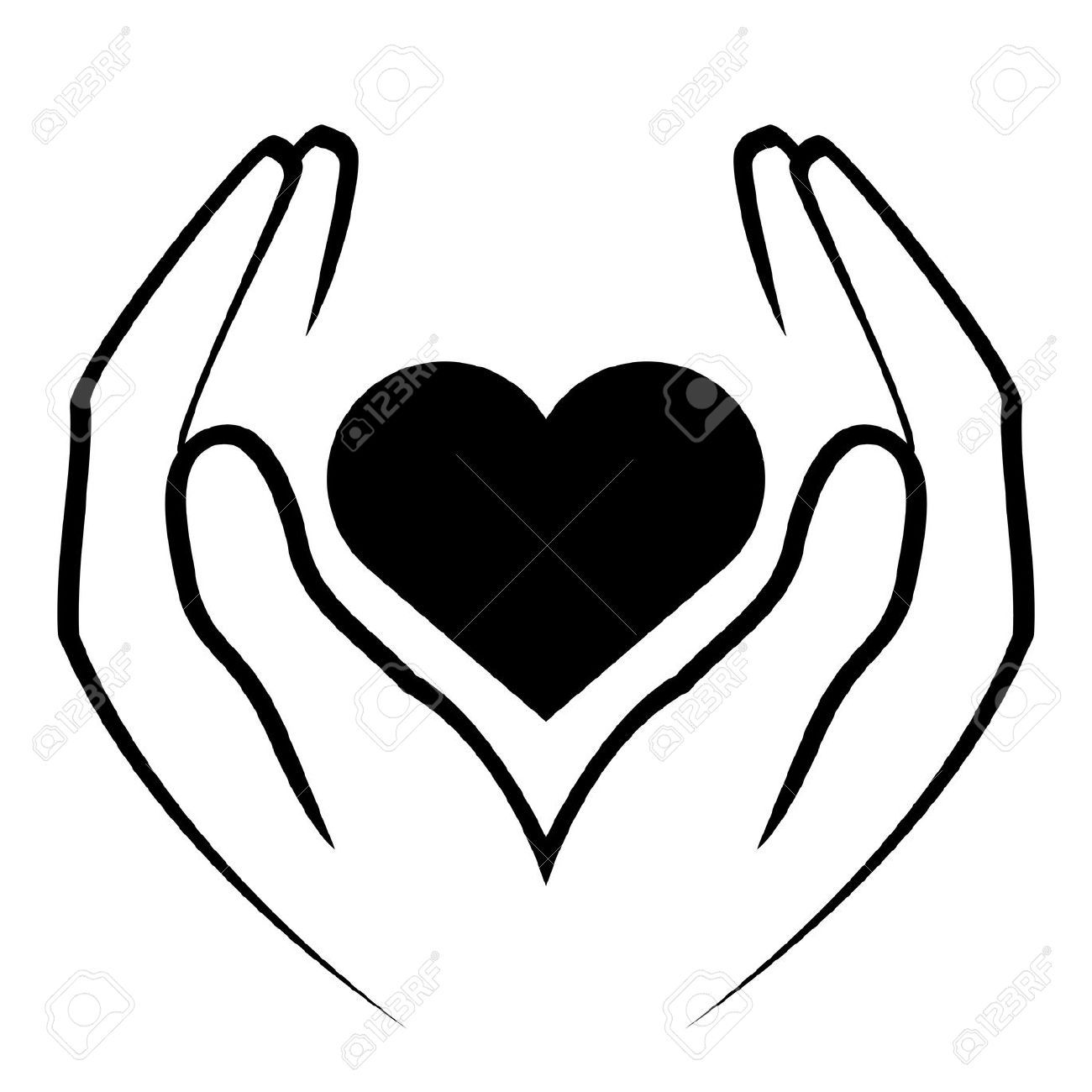 clipart hand holding