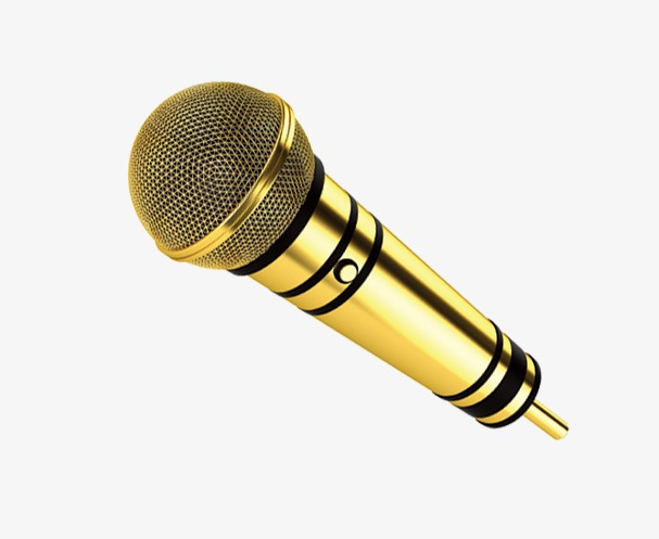 microphone clipart gold