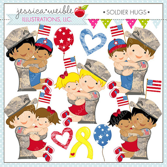military clip art military family