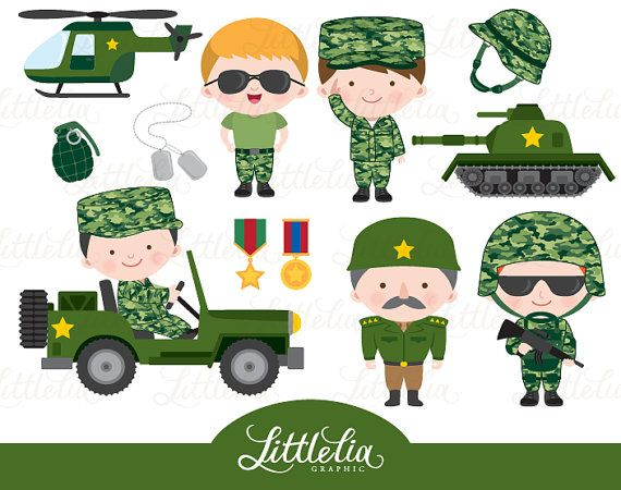 military clip art soldier