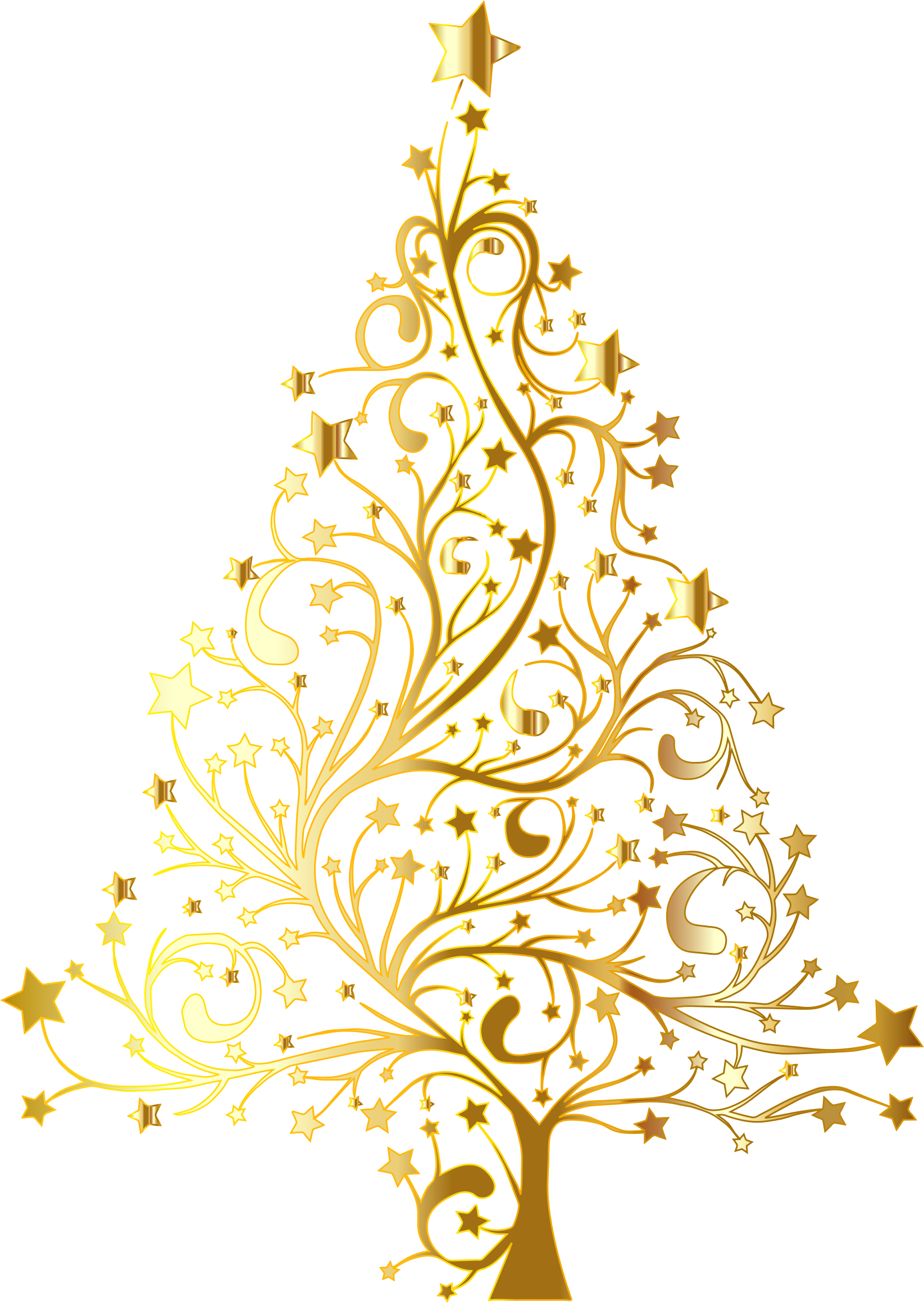christmas tree clipart gold