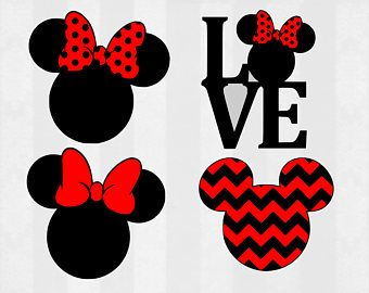 minnie mouse clipart silhouette
