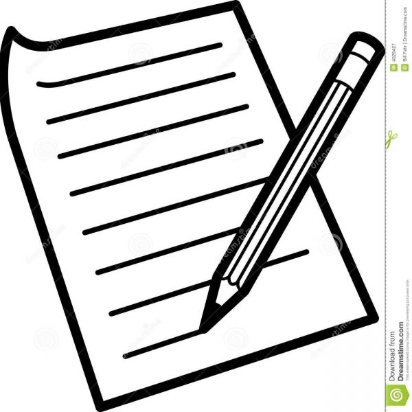 notebook clipart writing