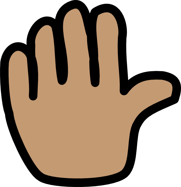 wave clipart hand